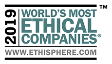Awarded one of the World's Most Ethical Companies 2015, 2014 and 2013 from www.ethisphere.com